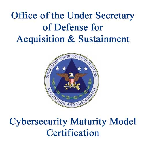Logo of the Office of the Under Secretary of Defense for Acquisition & Sustainment Cybersecurity Maturity Model Certification