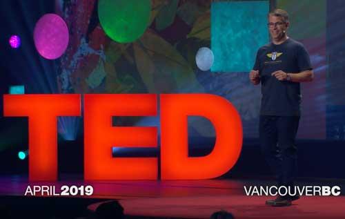 Screenshot of Matt Cutts, current boss of the US Digital Service, giving a TED talk
