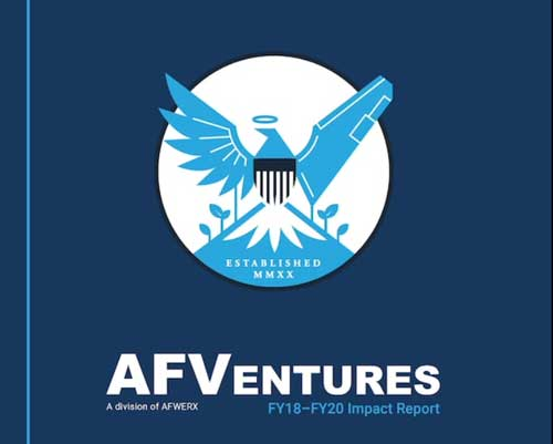 Cover of the Air Force Ventures annual report.