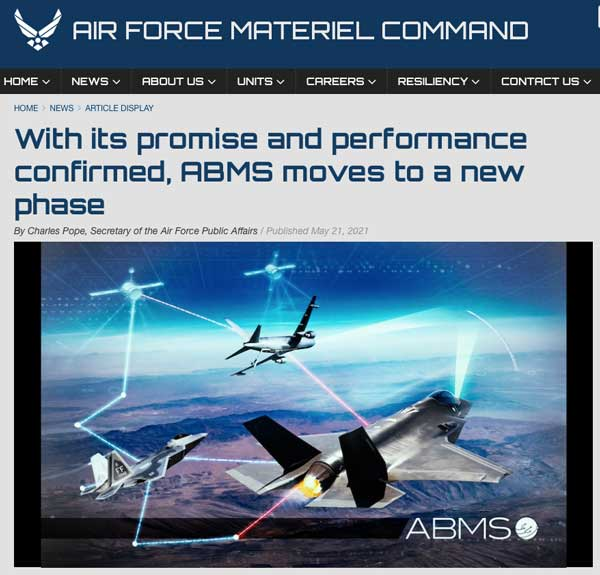 Illustration of the Air Force's internet-of-all-military-things